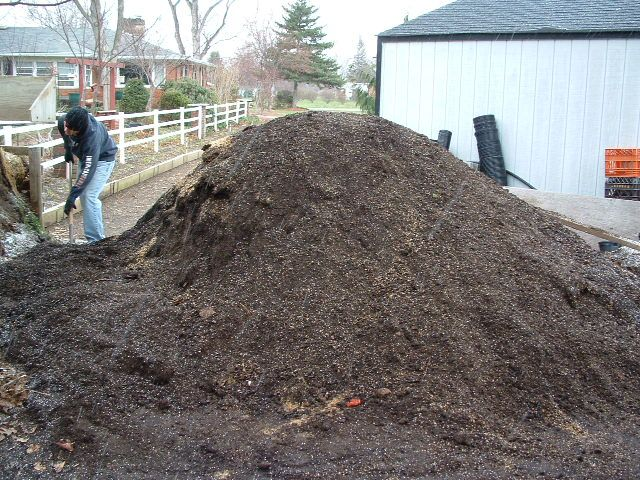 How to make your own awesome potting soil. The Million Dollar Secret to Keeping a Good, Fresh Supply of Usable Potting Soil! Never let the pile run out.  Ideally never use more than half of the pile. Why? Because you need that well rotted, broken down organic material to help the fresh hardwood bark that you are adding to the pile to break down faster.  So as soon as I was done potting in the spring I'd add more layers to my dagwood sandwich potting soil pile. (Very good info here, as…