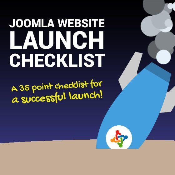 The Joomla Website Launch Checklist