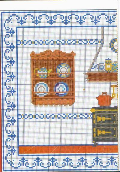 patrones de punto de cruz gratis cocina antigua gemma