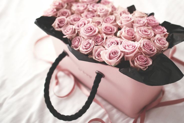 Pink Roses in an Obag.