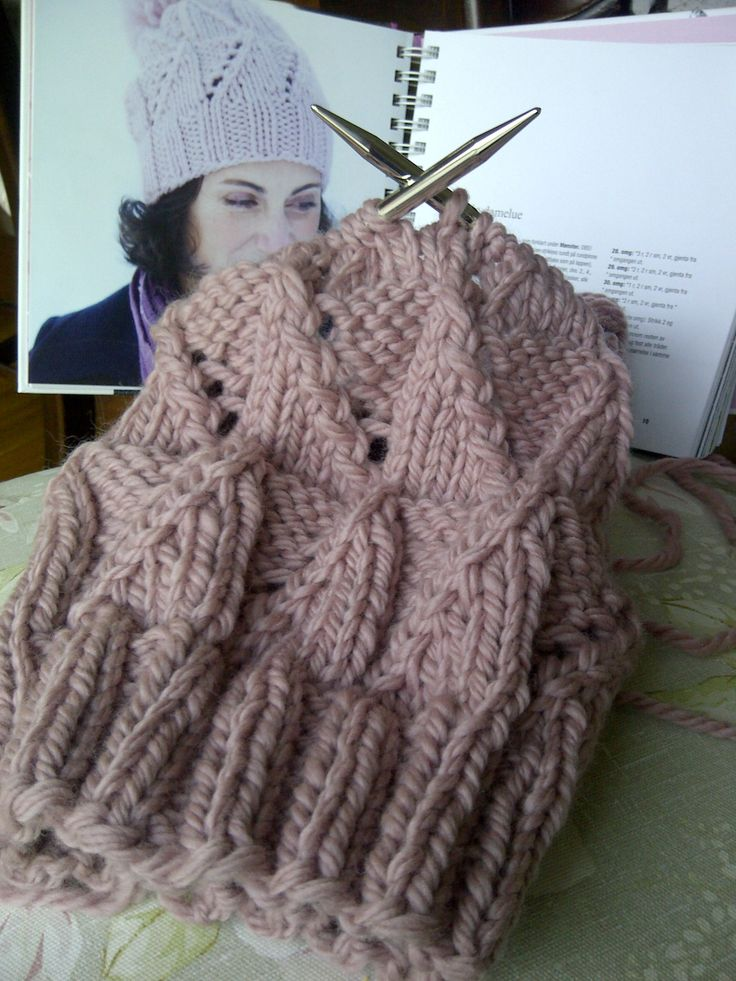 Love the Color. I'd love to learn how to knit.