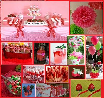 strawberry shortcake party by and everything sweet