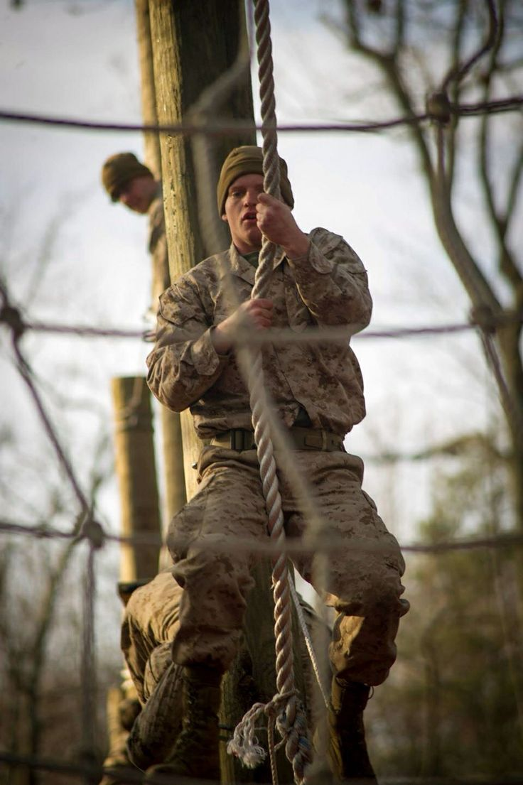Tarzan course at Marine Corps Officer Candidate School ...