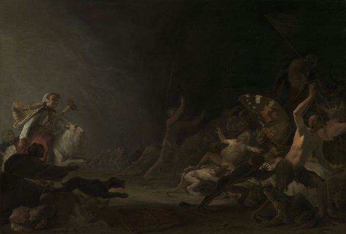 Saftleven, Cornelis - A Witches' Sabbath (шабаш ведьм) (1650, Art Institute of Chicago)