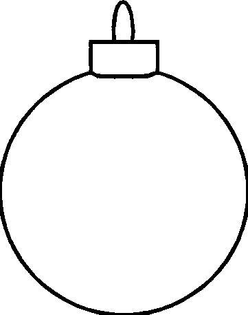 christmas ornament clip art black and white - Google Search