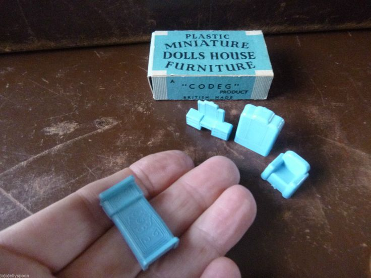 Vintage CODEG Dolls House Toy Furniture Set Matchbox Miniatures 50's | eBay