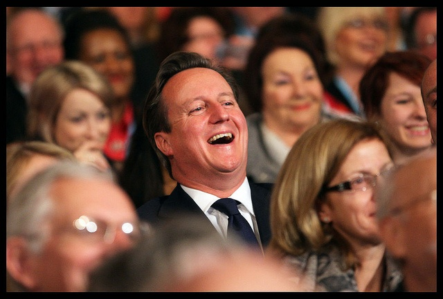 David Cameron watching Boris Johnson's speech by conservativeparty, via Flickr