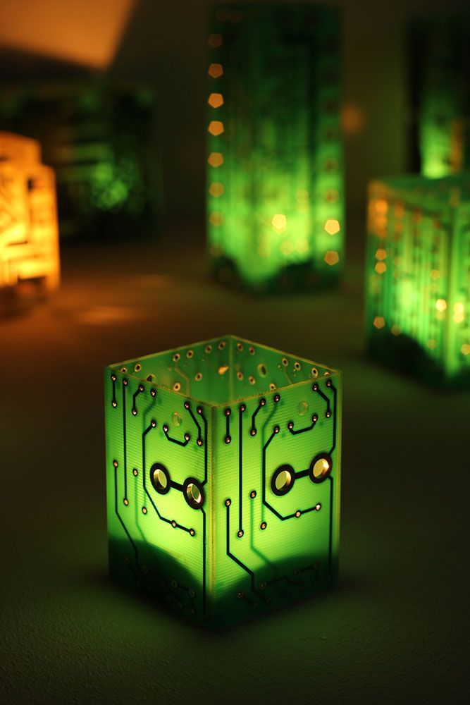 Circuit board candle holder