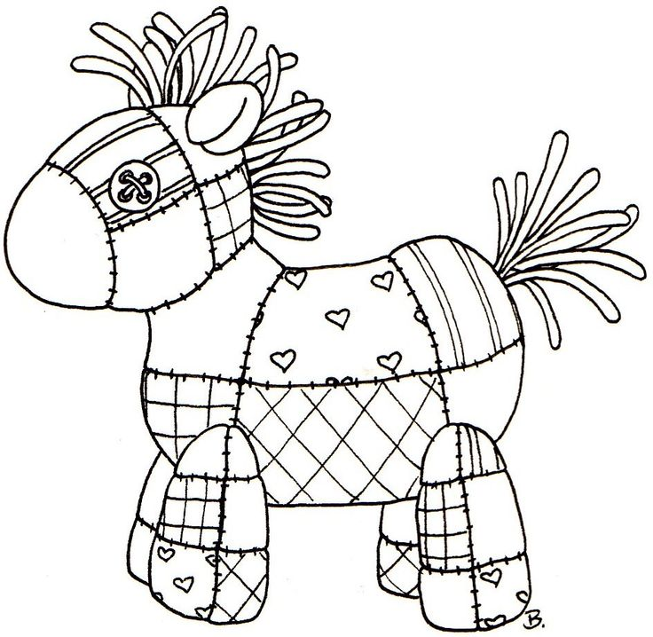 Quilted Horse. Good idea for appliqué as well as cute stitchery