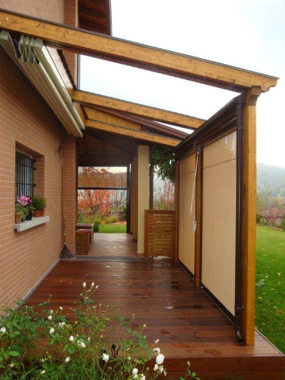 arrediamo il tuo outdoor con pergolati con tenda tende a caduta anti vento e pavimentazioni in legno  www.lfarredolegno.it