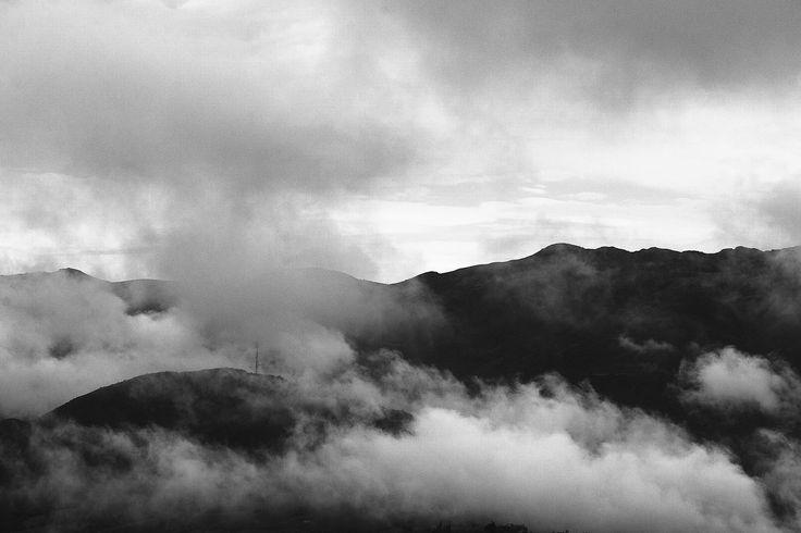 Mountains With Fog (Páramo de Guerrero) - This photograph was taken at 1 PM in Paramo de Guerrero.
