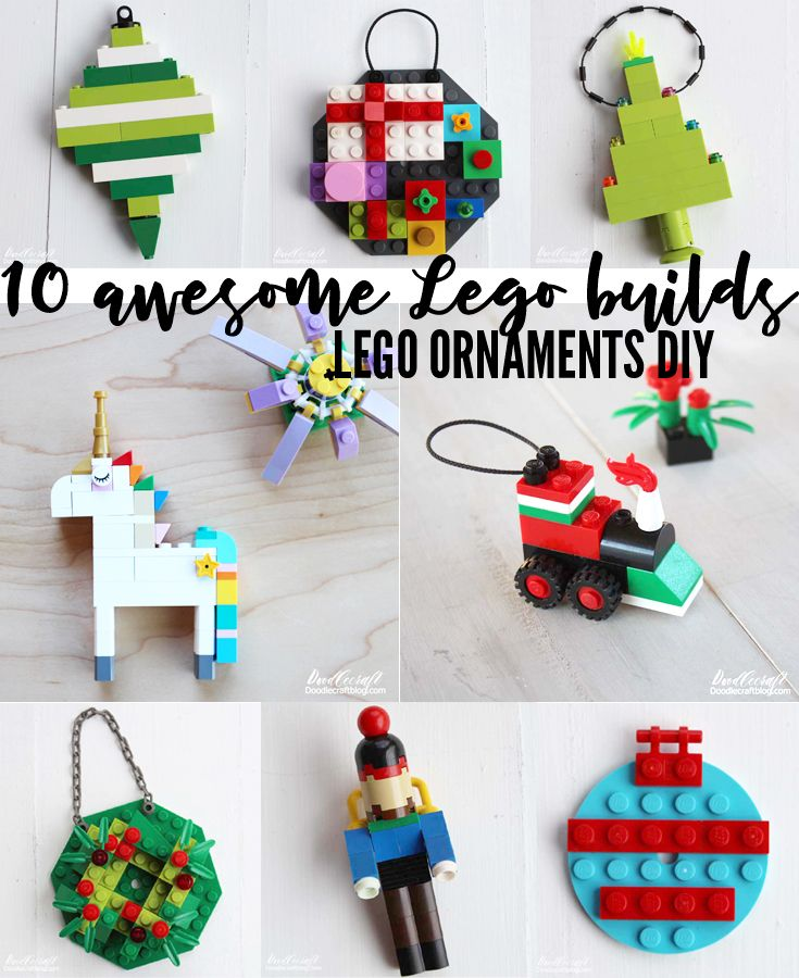 10+ Lego DIY Ornaments To Build This Holiday! Ornaments