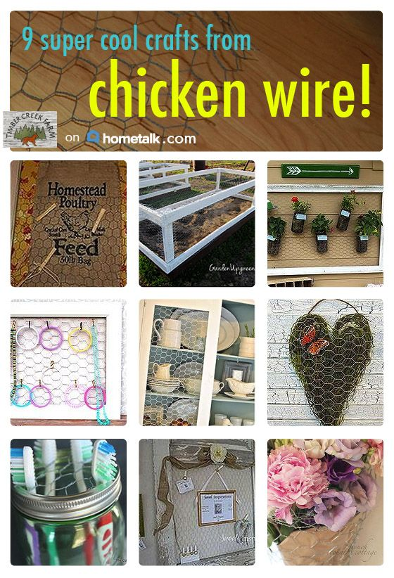 9 great things you can do with that old chicken wire!