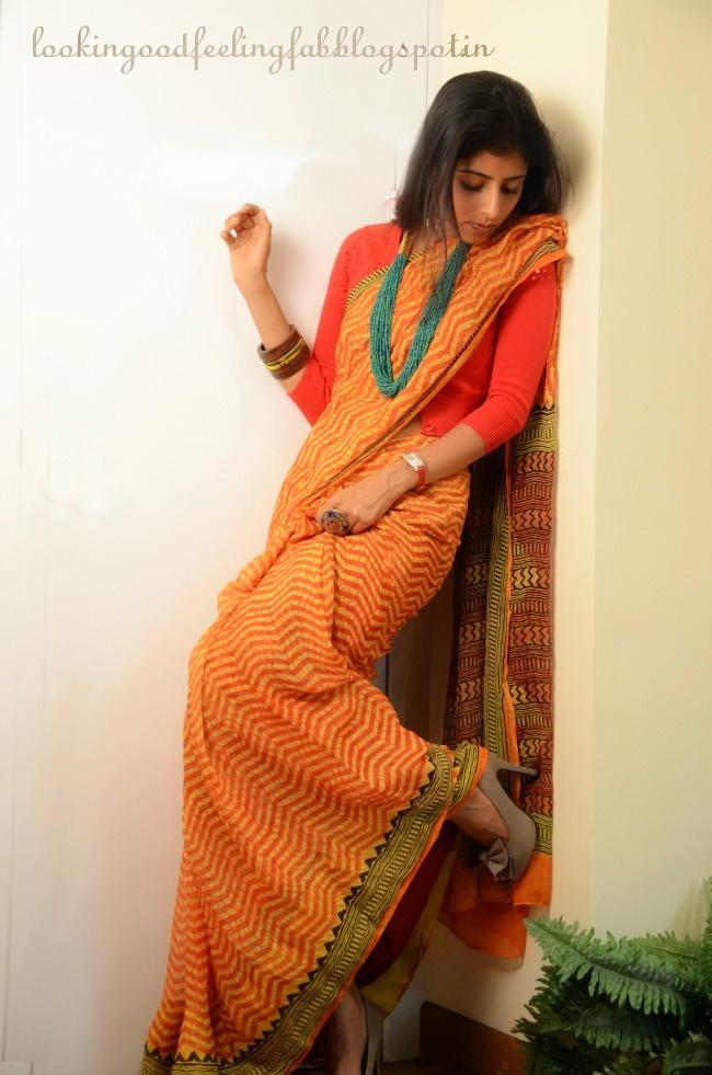 http://www.lookinggoodfeelingfab.com/2013/04/the-indian-saree-having-some-fun-with-it.html having fun with the everyday indian #sari #saree