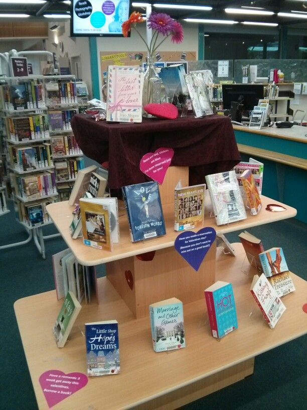 Valentines Library Display Library Displays Pinterest