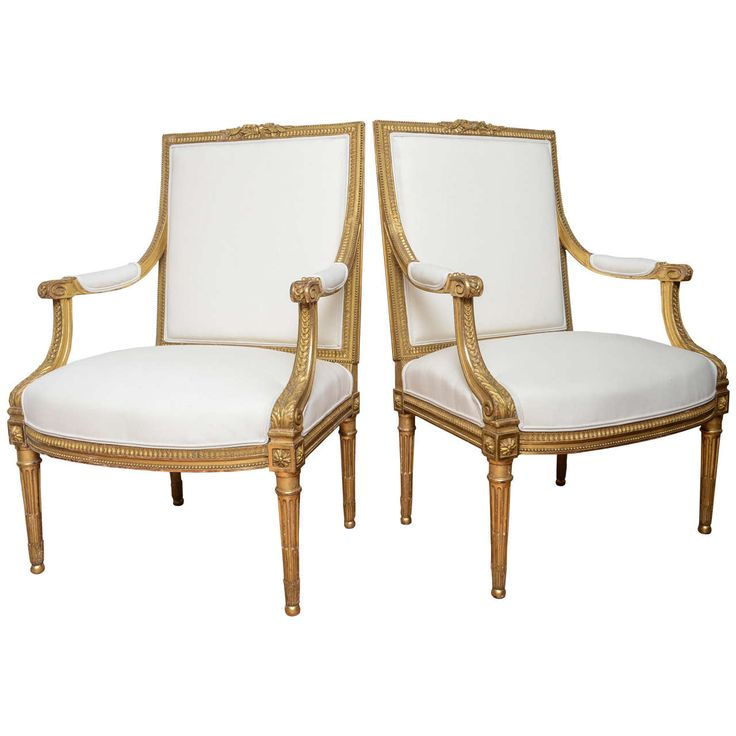 Fine Pair Of 18th Century French Armchairs In The Louis XV Style