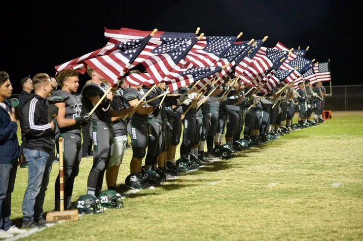 What This High School Football Team Did with Old Glory Will Make You Proud to Be An American