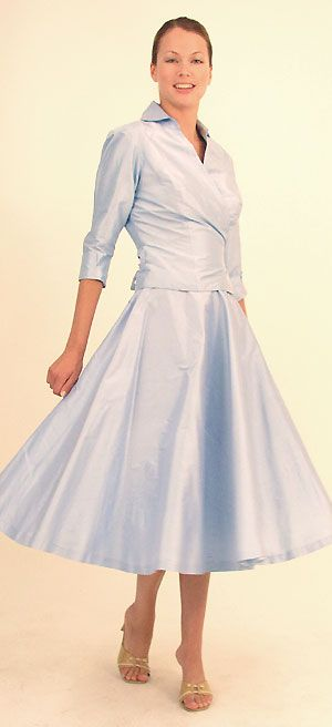 Tea Length Wedding Dresses For Older Brides (2nd Marriage) :