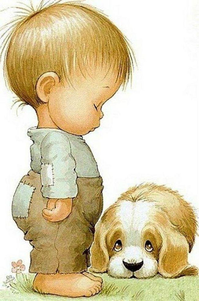 Собаки с новорожденным открытка, праздником