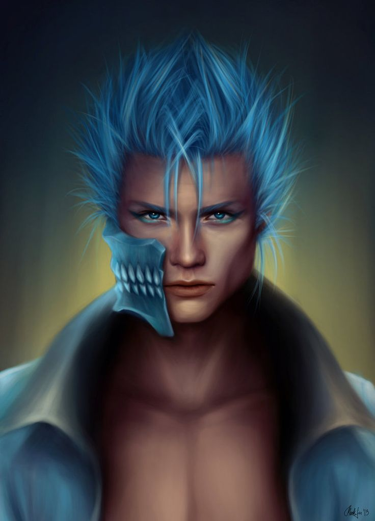 Anime Characters Realistic : Grimjow bleach art realistic anime characters