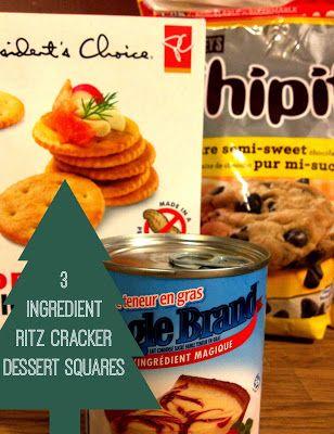 3 Ingredient Moist & Delicious Ritz Cracker Dessert Squares - perfect easy Christmas Baking!