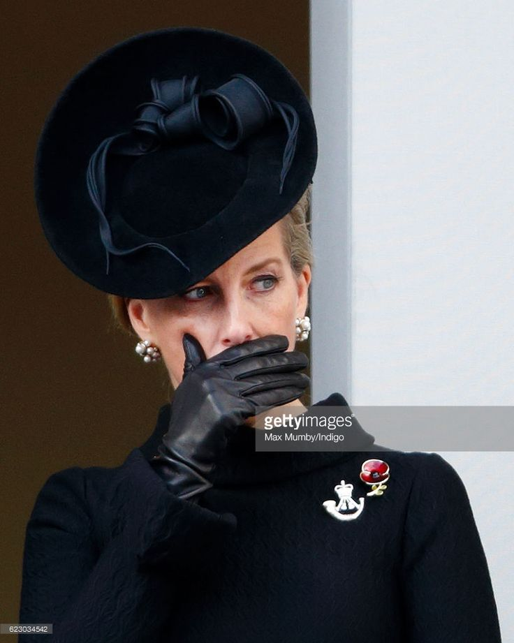(EMBARGOED FOR PUBLICATION IN UK NEWSPAPERS UNTIL 48 HOURS AFTER CREATE DATE AND TIME) Sophie, Countess of Wessex attends the annual Remembrance Sunday Service at the Cenotaph on Whitehall on November 13, 2016 in London, England. The Queen, senior politicians, including the British Prime Minister and representatives from the armed forces pay tribute to those who have suffered or died at war. (Photo by Max Mumby/Indigo/Getty Images)