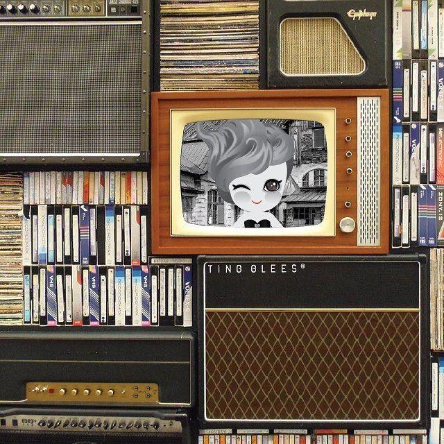 레트로풍으로~~츄 Retro style Chu~~ . #Tingglees #tingglee #chu #retro #blackandwhite #tv #design #팅글리 #츄 #레트로 #복고 #흑백 #디자인 #캐릭터