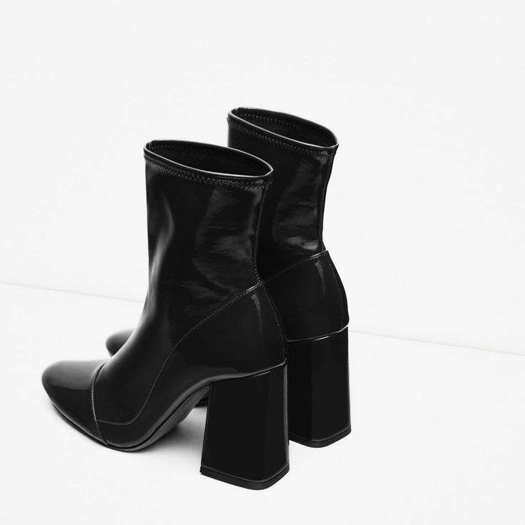 Image 3 of HIGH HEEL SOCK STYLE ANKLE BOOTS from Zara
