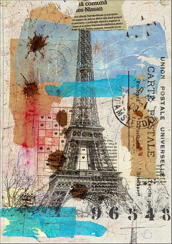 Good Morning Paris Autographed Print Art From Original Mixed