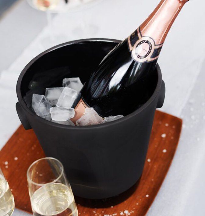 Black Terracotta series by @magissofinland keeping Champagne cool this summer. #theobjectroom #magisso #champagne #terracotta #gooddesign