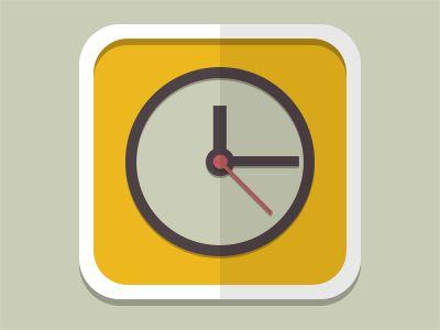 Flat Clock Icon by Diego (Aurove)