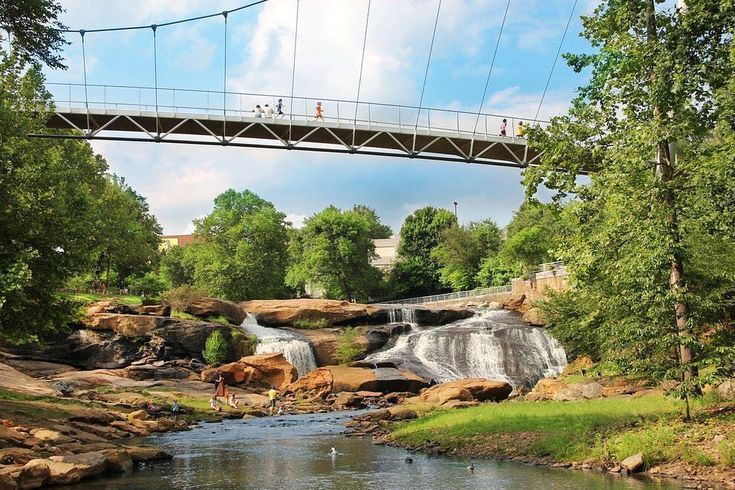 """Woohoo! #yeahTHATgreenville's """"Falls Park on the Reedy River"""" is in the running for 2017's USA Today's 10 Best South Carolina Attractions! VOTE TODAY for Greenville, SC and show your ! """""""
