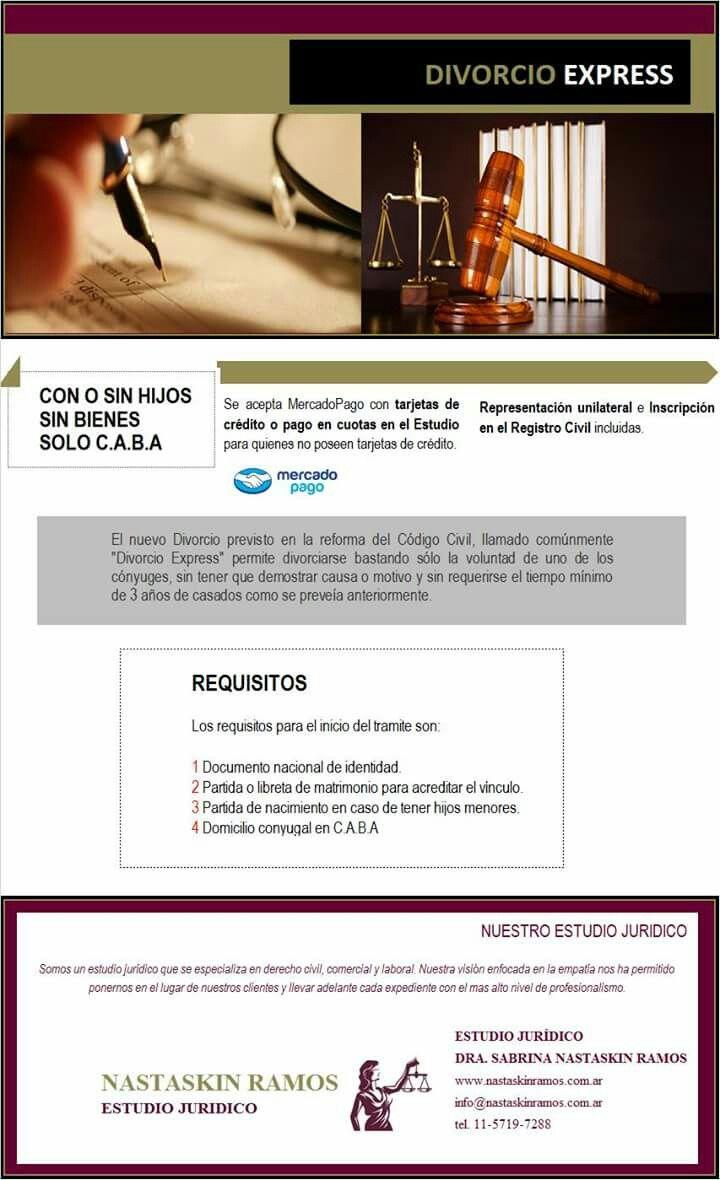 Divorcio Express. Estudio Jurídico Nastaskin Ramos. Buenos Aires. Argentina. 011 5719-7288