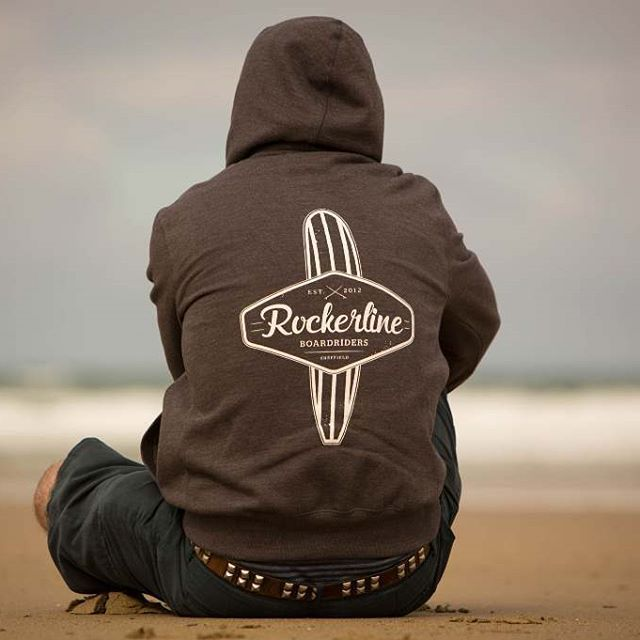 95ca63b18d50 What do you wear on your surf adventures. Rockerline #boardriders #hoody is  a #beach #classic. Sitting waiting and watching the oceans movements.