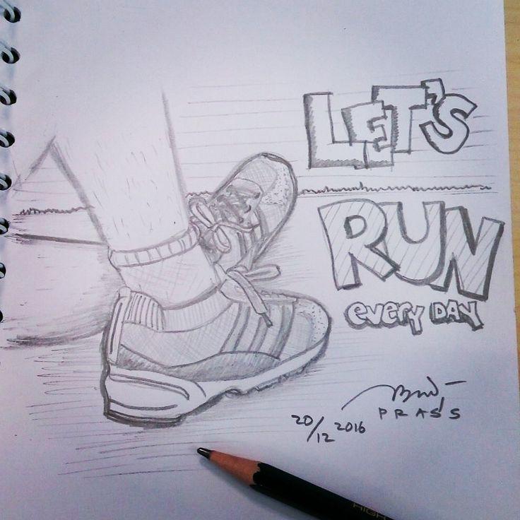 Let's run every day! *dah lama ga nyeket      #jogging #lari #laripagi #olahraga #workout #run #hidupsehat #sehat #health #healthylife #runeveryday #instarun #sepatu #sepatulari #runningshoes #sketch #pencil #sketsa #sketsapensil #pencilsketch #menggambar #gambar #ilustrasi #ilustration #sketching #drawing #art #belajargambar #practice #prasssketch