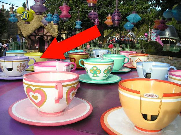 Ride in the purple teacup in the Mad Hatter ride — it spins the fastest. | 16 Awesome Hidden Gems You Must Experience At Disneyland
