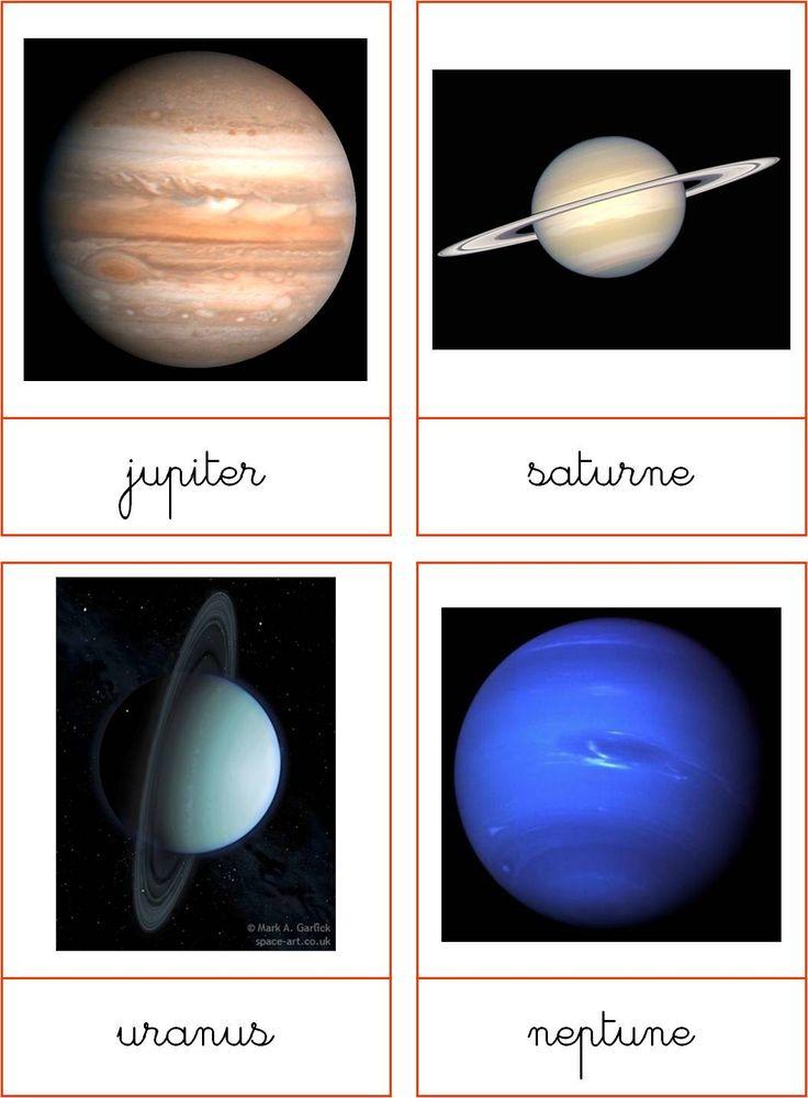montessori un tout petit peu: Système solaire - les planètes