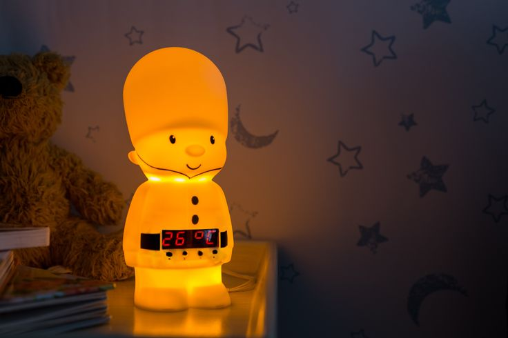 Cozyglo Colonel Comfort is a loyal and experienced soldier. He is very proud of his uniform and keeps guard while you sleep.   This multi-purpose night light has the following functions: a dimmer, clock, stopwatch, light alarm, countdown light timer and thermometer.