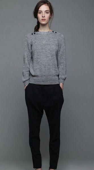 Women Fashion, Weekend Wear, Basic, Nice Sweaters, Grey Sweaters, Personalized Style, Harem Pants, Black Pants, My Style