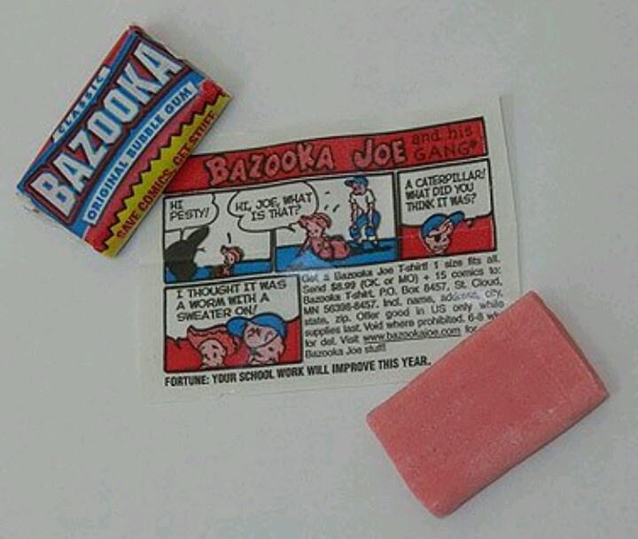 Bazooka Bellen blazen van kauwgom