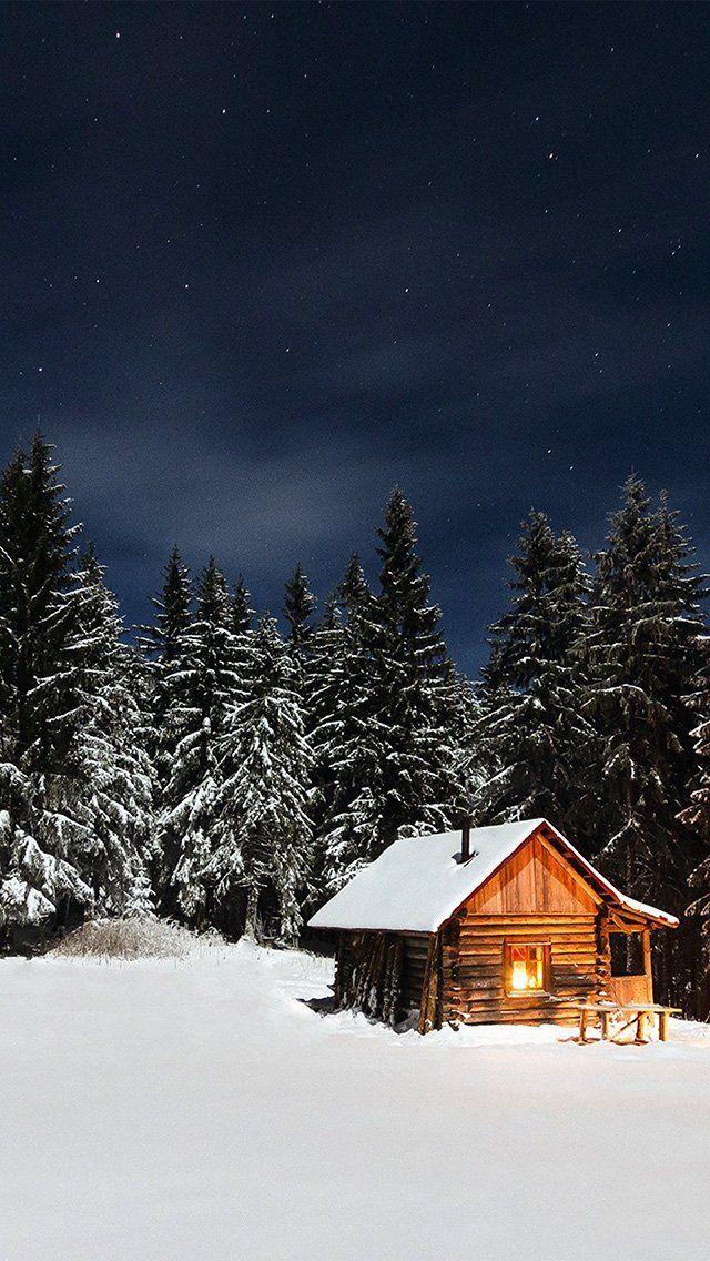 Iphone Wallpaper Winter Winter House Wallpaper Iphone Christmas Winter Wallpaper