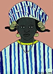 Portrait de femme, Mor Gueye