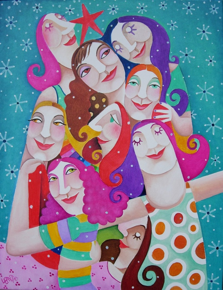Leandro Lamas. How I see my friends when I close my eyes. Happy, colourful, together.