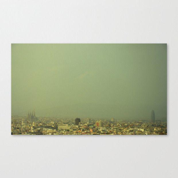 Barcelona Skyline Print by Neema Sadeghi