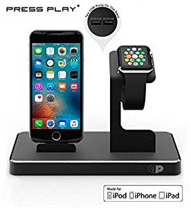 Amazon.com: ONE Dock Power Station Dock, Stand & Charger for Apple Watch Smart Watch, iPhone, iPad and iPod-Black: Cell Phones & Accessories