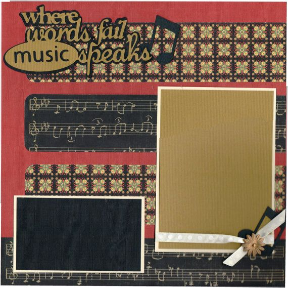 2 page Scrapbooking Layout Kit  When Words Fail by CropALatteToGo, $10.00