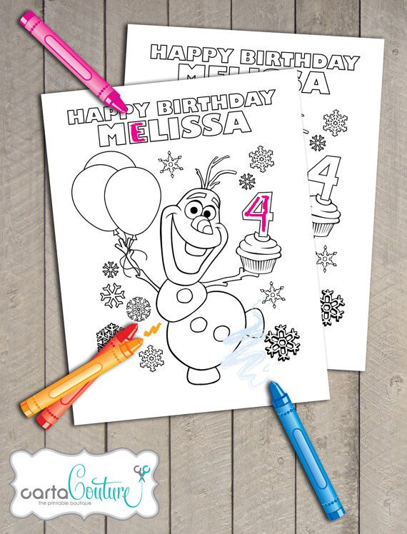 Pin By Shelby O Brien Ledman On 4th Birthday Frozen Themed Birthday Party Olaf Birthday Party Frozen Birthday Party