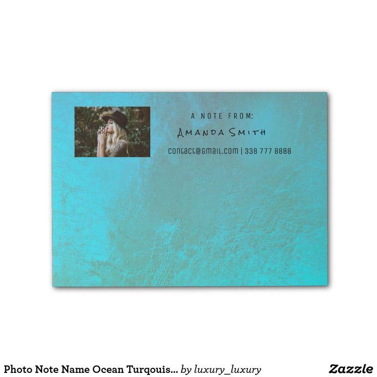 Photo Note Name Ocean Turqouise Metallic Post-it® Notes