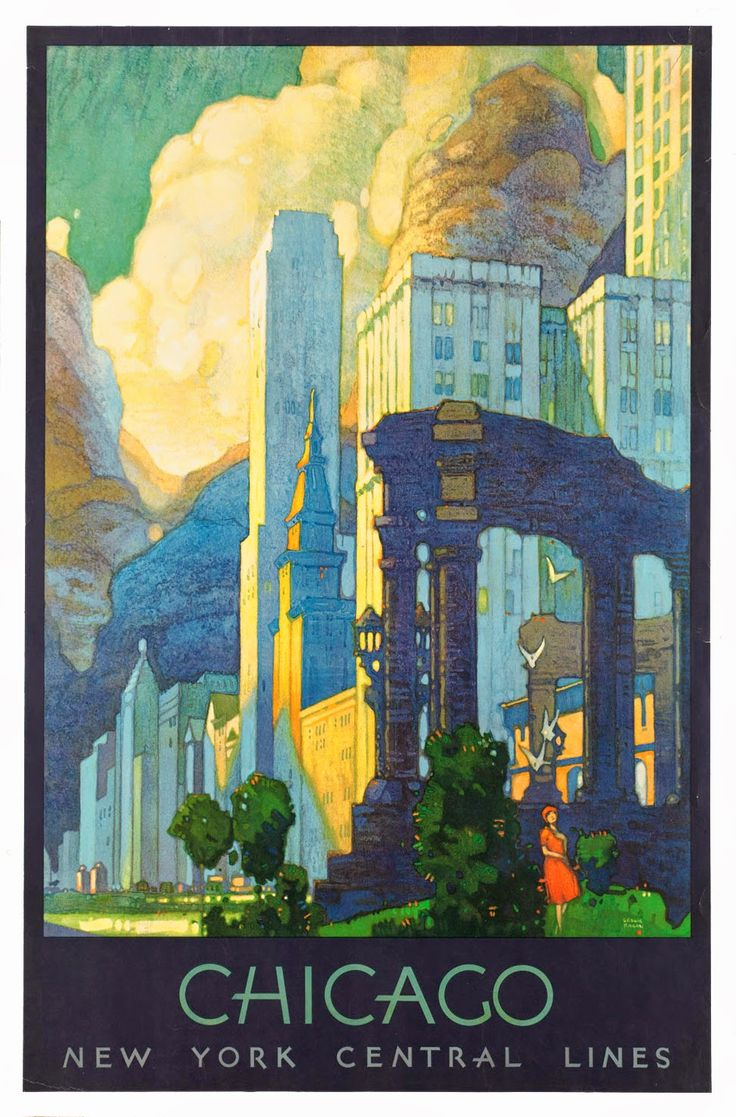 ART & ARTISTS: Vintage Travel Posters - part 2 / Artwork: Leslie Ragan