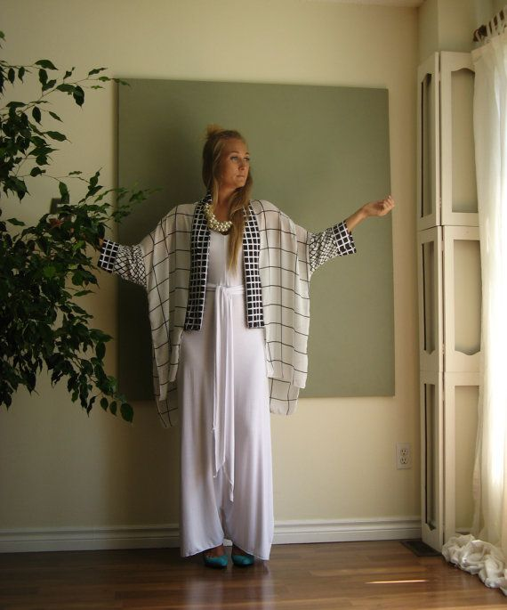 Boho Chic Kimono gran tamaño traje manga por KimKatDesign en Etsy